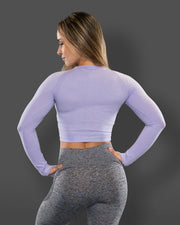 Amore Seamless Long Sleeve Crop Violet