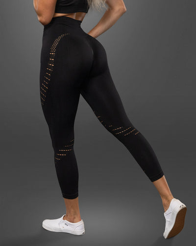 Amore Seamless Black Leggings