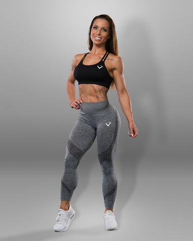 Amore Seamless Grey Leggings - Violate The Dress Code