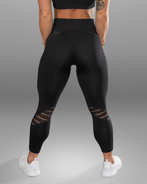 Amore Seamless Black Leggings - Violate The Dress Code