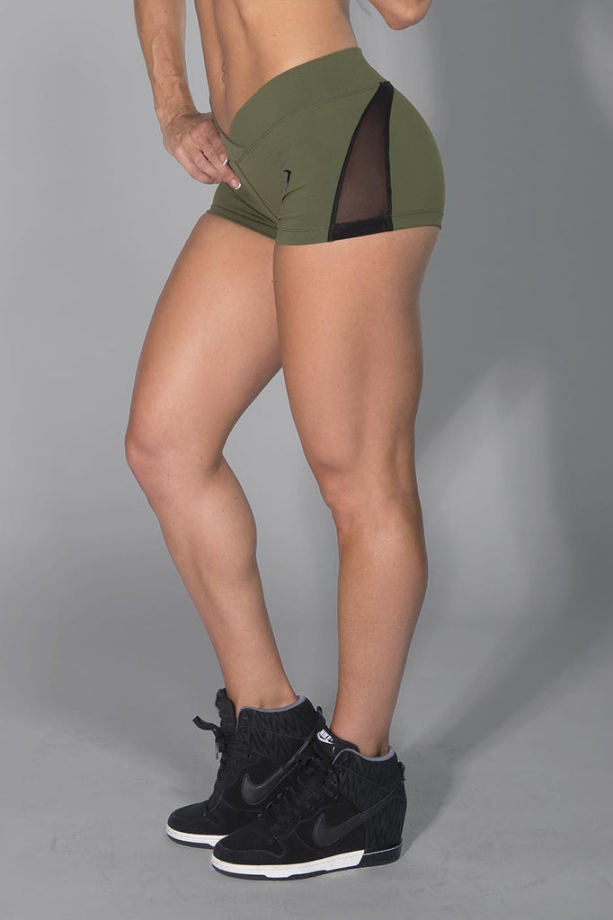 Desire Army Green Shorts