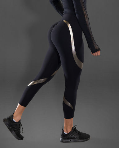 Gold Desire Scrunch Butt Leggings