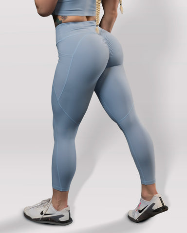 Luxe Blue Steel Scrunch Butt Leggings - Violate The Dress Code