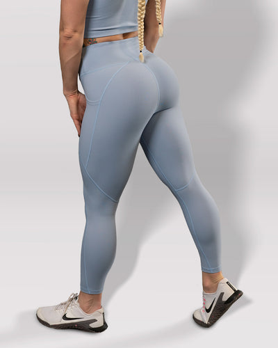 Luxe Blue Steel Leggings - Violate The Dress Code