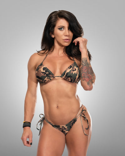 Camo Bikini Top - Violate The Dress Code