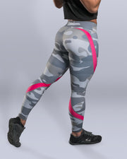 Pink Snow Camo Leggings - Violate The Dress Code