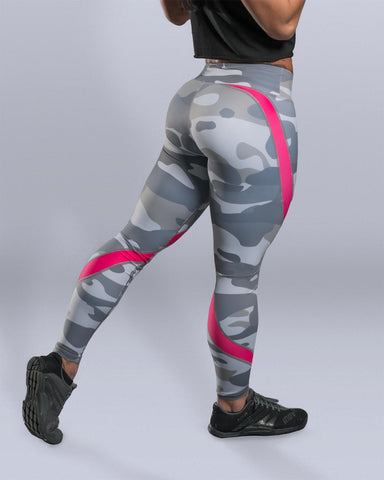 Pink Snow Camo Leggings