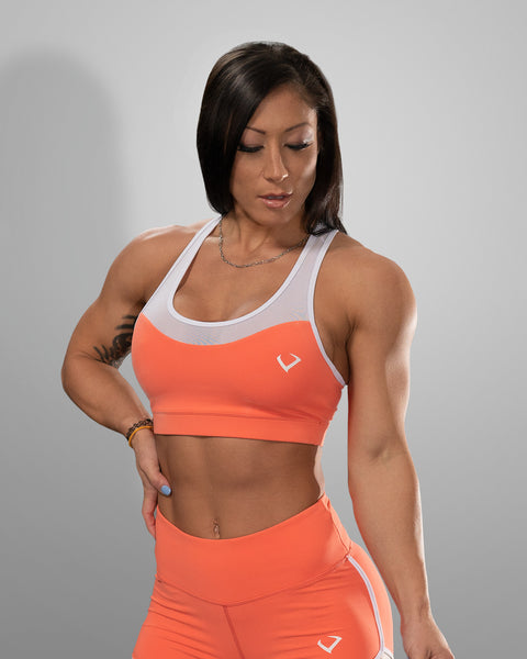 Creamsicle Mesh Sports Bra - Violate The Dress Code