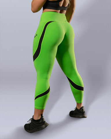 Desire Neon Green Leggings - Violate The Dress Code