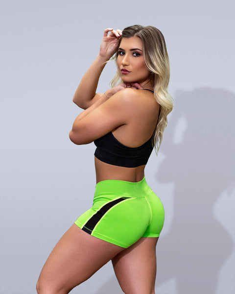 Desire Neon Green Shorts - Violate The Dress Code