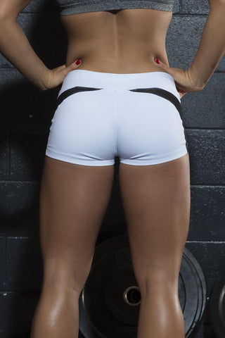 Desire White Mesh Shorts - Violate The Dress Code