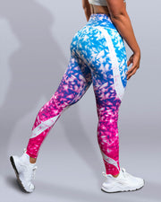 Rainbow Crystal Leggings - Violate The Dress Code