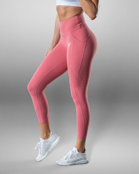 Luxe Faded Rose Scrunch Butt Leggings - Violate The Dress Code