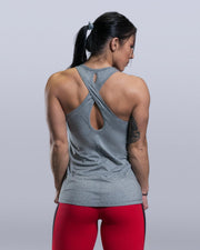 Keyhole Grey Tank Top - Violate The Dress Code