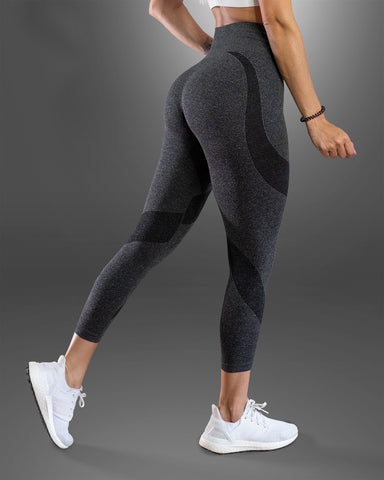 Amore Scrunch Butt Grey Seamless Leggings
