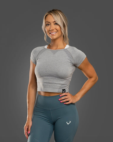 Amore Seamless Crop Top Light Grey