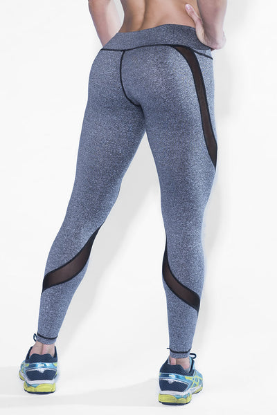 Desire Heather Grey Mesh Leggings