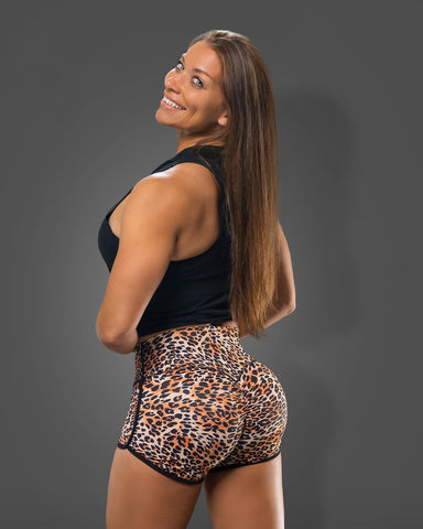 Leopard Scrunch Butt Shorts