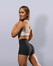 Luxe Black Scrunch Butt Shorts - Violate The Dress Code