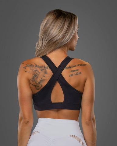 Luxe Sports Bra Black