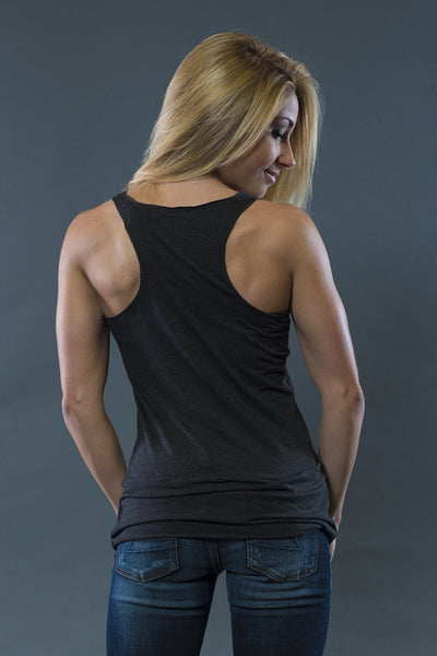 Marilyn Triblend Black Racerback