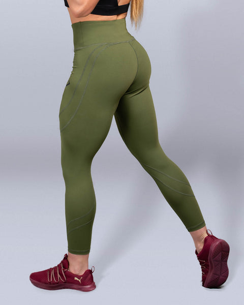 Desire Olive High Waist Leggings - Violate The Dress Code