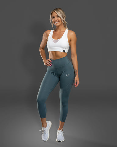 Passion Leggings Gunmetal Teal