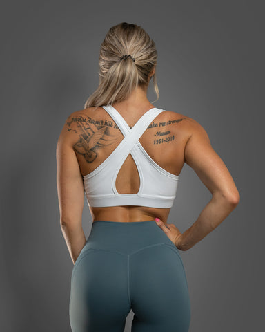 Luxe Sports Bra White