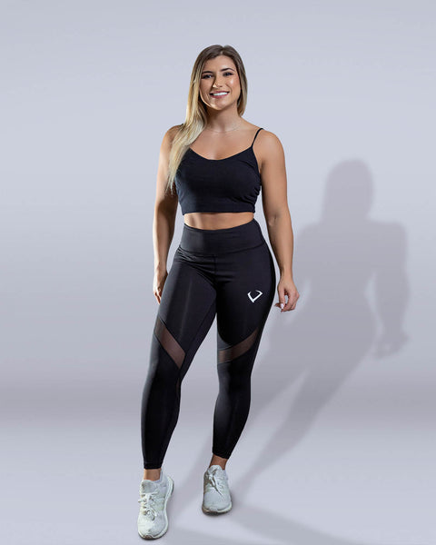 Desire Black Mesh Leggings - Violate The Dress Code