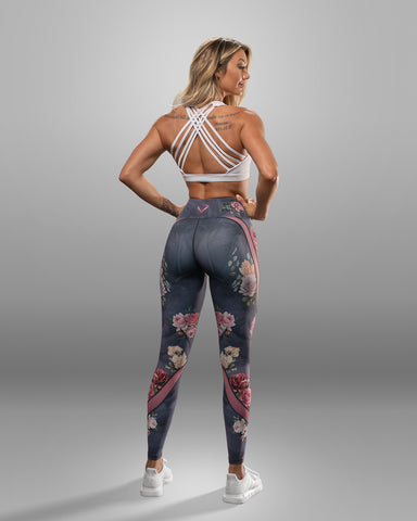 Floral Print Leggings - Violate The Dress Code