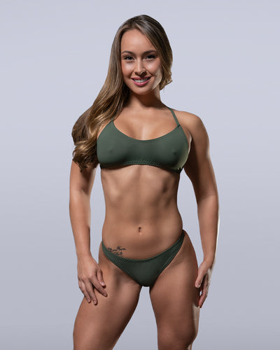 Olive Bikini Top - Violate The Dress Code