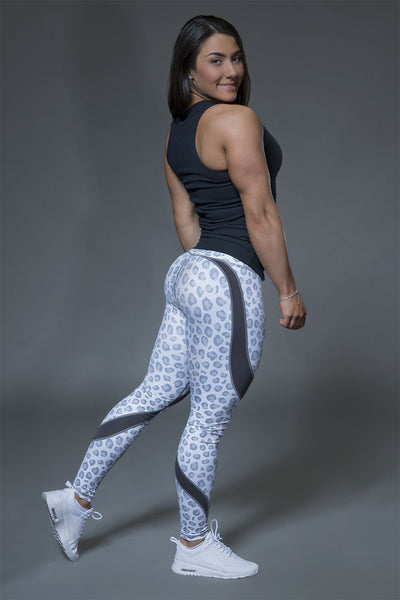 White Leopard Leggings - Violate The Dress Code