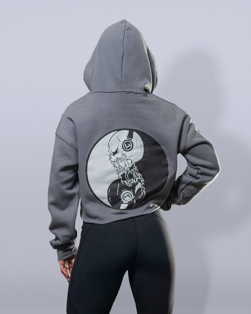 Yin and Yang Slate Grey Hoodie - Violate The Dress Code