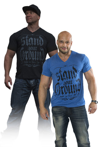 Stand Your Ground-Men's V-neck - Violate The Dress Code
