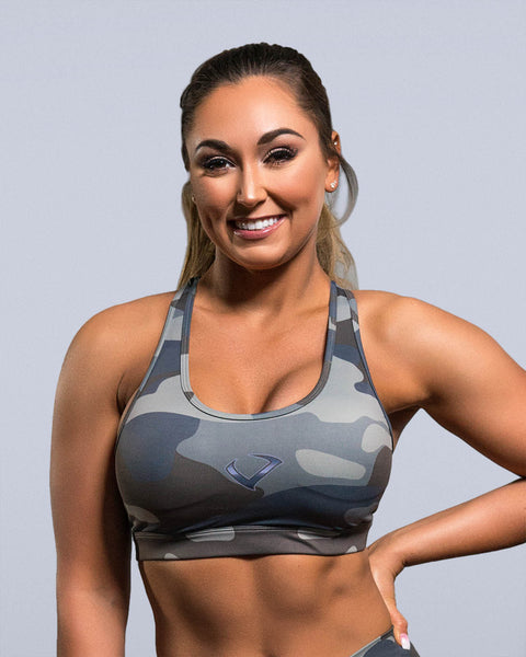 Vintage Camo Sports Bra - Violate The Dress Code