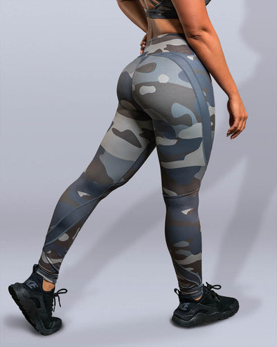 Vintage Camo Leggings - Violate The Dress Code