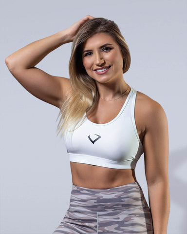 Allure Sports Bra White - Violate The Dress Code