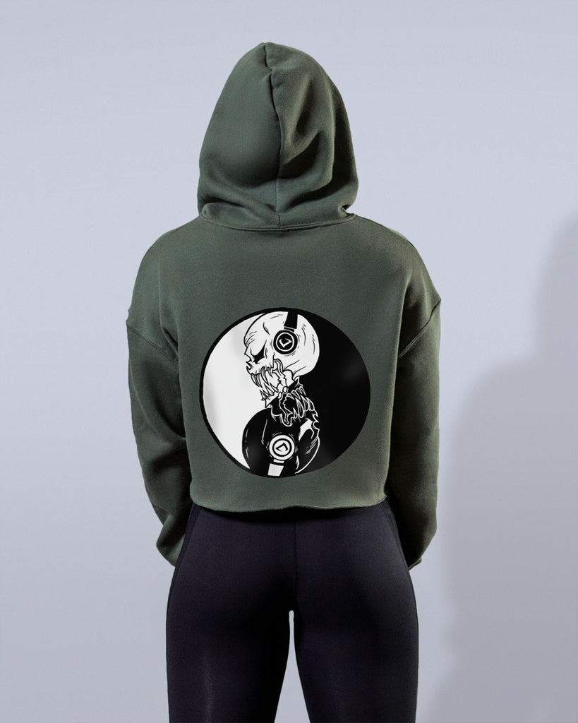 Yin and Yang Army Green Hoodie - Violate The Dress Code