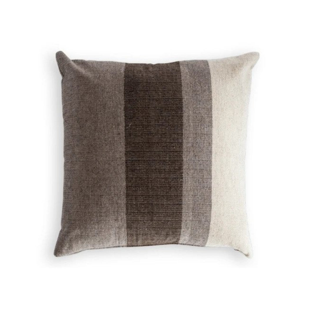 Azulina Home - Handmade Madera Colorblock Stripe Toss Pillow