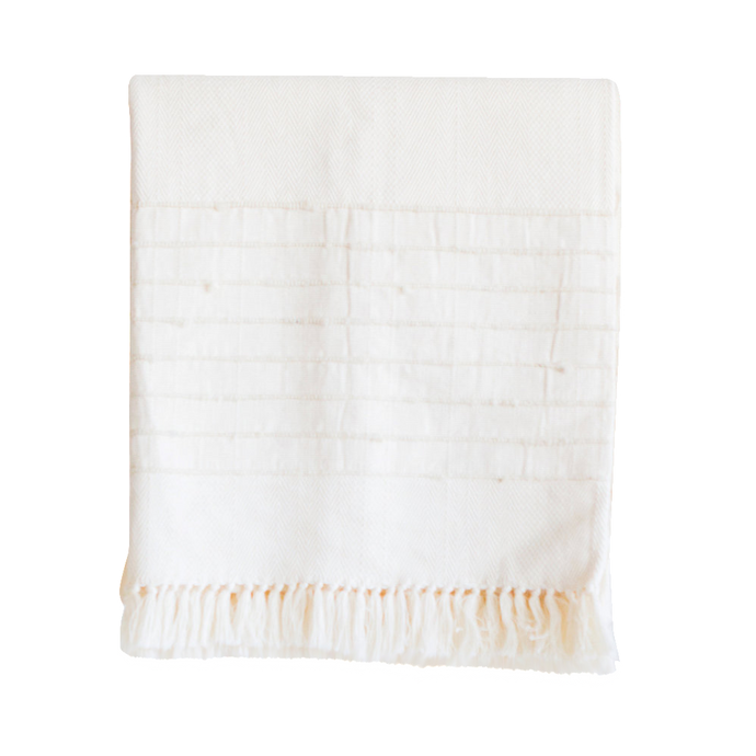 Salento Throw: Ivory