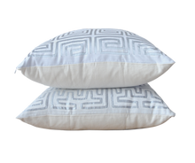 White and Silver Mola Pillow