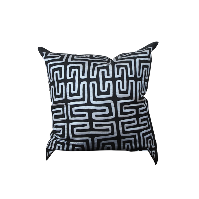 Black Metallic Mola Pillow