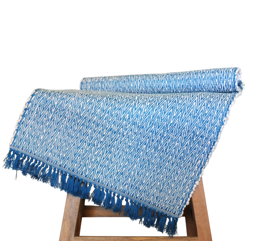 sample // blue bath mat