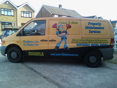 Ashford Vehicle Graphics. Fitted van and car signs free design good prices by www.1st4signs.com