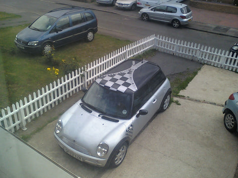 Graphics and flags for mini cooper kent