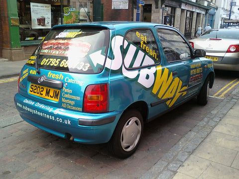 Minster on sea vehicle graphics made and fitted van and car signs free design and good prices