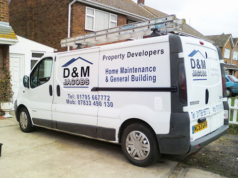 Highsted Vehicle Graphics. Fitted van and car signs free design good prices by www.1st4signs.com