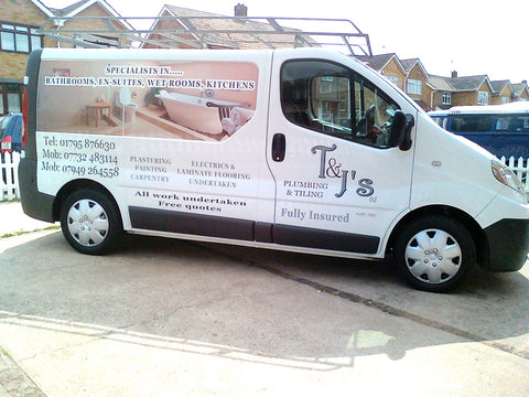 Gillingham Vehicle Graphics. Fitted van and car signs free design good prices by www.1st4signs.com
