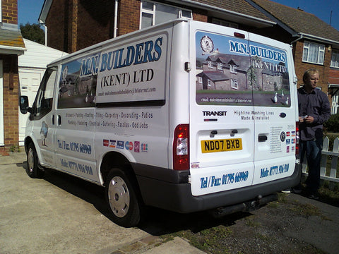 Sittingbourne Vehicle Graphics. Fitted van and car signs free design good prices by www.1st4signs.com