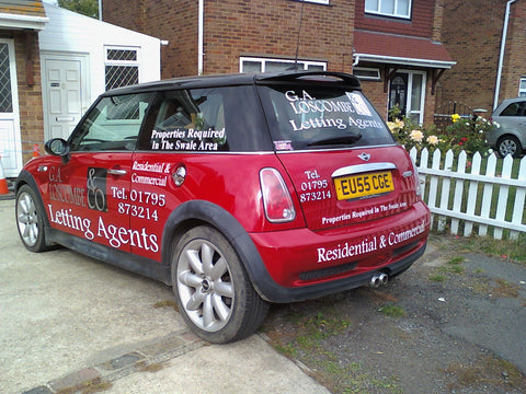 Chatham vehicle graphics made and fitted van and car signs free design and good prices by 1st 4 Signs www.1st4signs.com